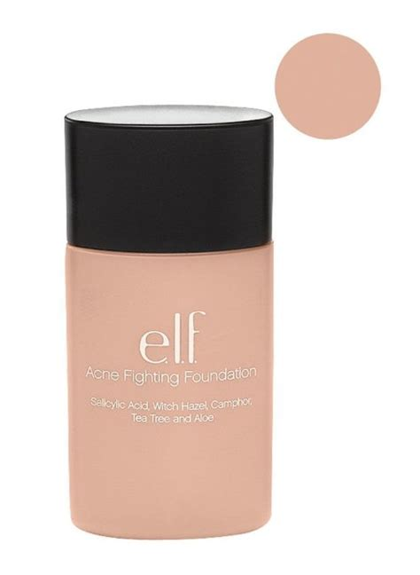 E L F Acne Fighting Foundation best foundations for acne prone skin