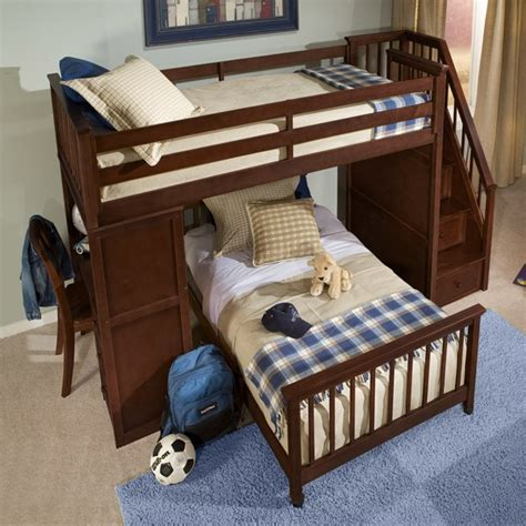 full bunk bed with desk twin over full bunk bed with desk best alternative for kids room homesfeed
