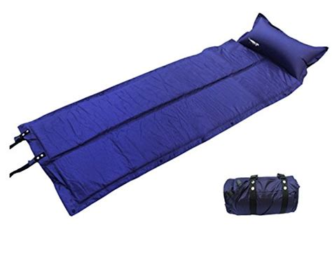 luxetempo lightweight self inflating c pad tent air mattress sleeping pad with attached