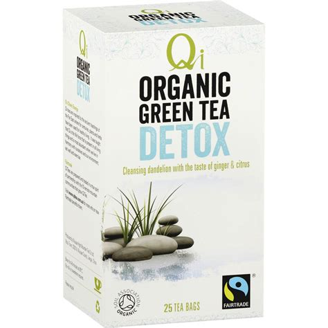 How To Detox Your With Green Tea by Qi Wellness Organic Detox Green Tea Bags 25pk 40g Woolworths