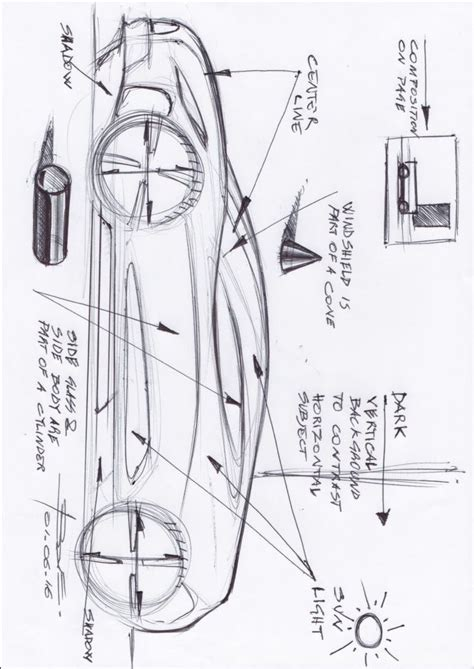 sketchbook basic tutorial sketching cars with markers tutorial automobile sketch