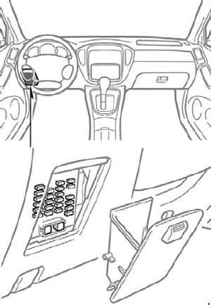 airbag deployment 2003 toyota highlander navigation system 2001 2007 toyota highlander xu20 fuse box diagram 187 fuse diagram