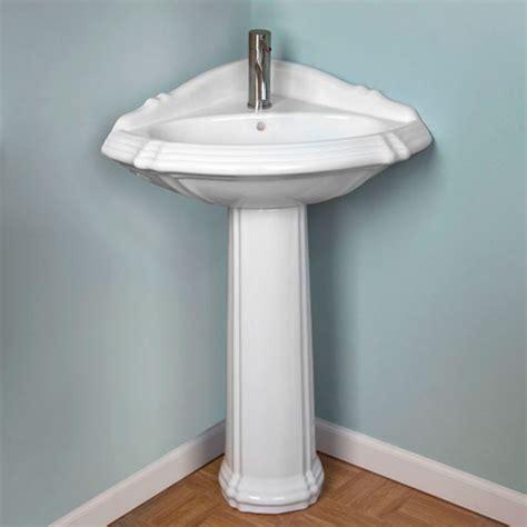 corner pedestal sink 25 quot regent corner pedestal sink single faucet white ebay