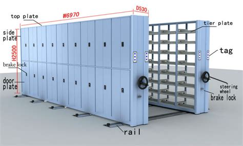 Movable Racks Storage by Compactor Cabinet Movable Storage Shelf Movable Rack Steel Compact Movable Shelving Sliding Gate