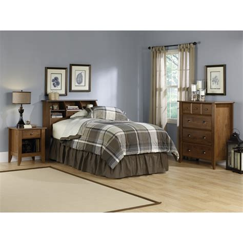 sauder bedroom furniture sauder shoal creek 3 piece twin bedroom set oiled oak