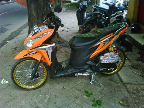Vespa Modifikasi Warna Orange by Modif Motor Beat Fi Orange Automotivegarage Org