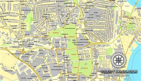 printable street maps uk southton england uk great britain printable vector