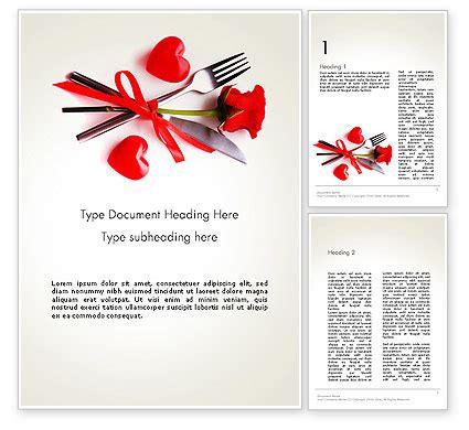 romantic dinner invitation powerpoint template