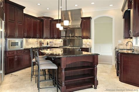 dark cherry kitchen cabinets pictures of kitchens traditional dark wood kitchens
