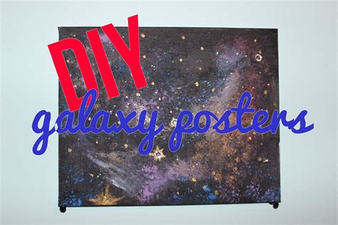 poster design diy diy galaxy posters youtube