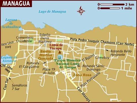 managua nicaragua map map of managua