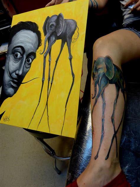 elephant tattoo salvador dali salvador dali elephant by mully tattoonow
