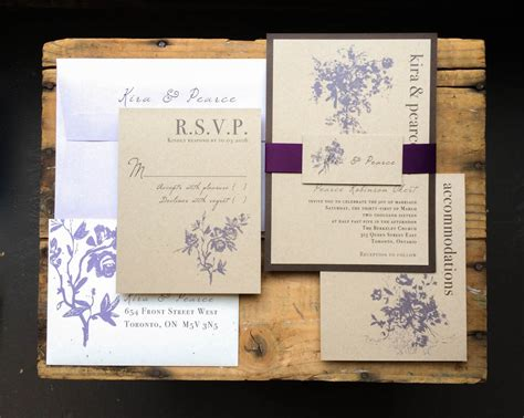 rustic elegance wedding invitations rustic elegance customizable brown purple wedding
