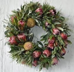 artificial australian native christmas wreath a wreath made from beautiful australian flowers creative wreaths