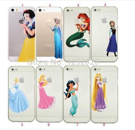 Snow White Vr46 Iphone Iphone 6 7 5s Oppo F1s Redmi S6 Vivo princess snow white frozen elsa mermaid ariel holding logo semi clear transparent