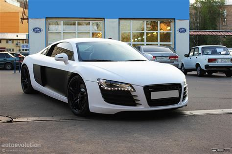 audi r8 wrapped audi r8 vinyl wrap satin white autoevolution