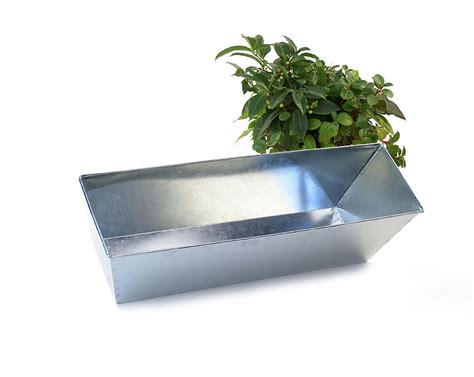 Galvanized Window Planter by 23 Quot Rectangle Window Box Galvanized