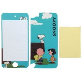 2 In 1frontback Snoopy Pattern With Dishcloth Protective Skin Stick 2 in 1 snoopy pattern protective skin sticker ipod touch