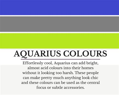 aquarius colors colour schemes to suit aquarius how to use them in your