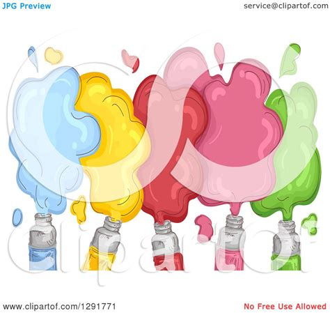 acrylic paint clipart clipart of sketched acrylic paint with colorful