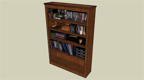 sketchup components 3d warehouse bookshelf with sketchup