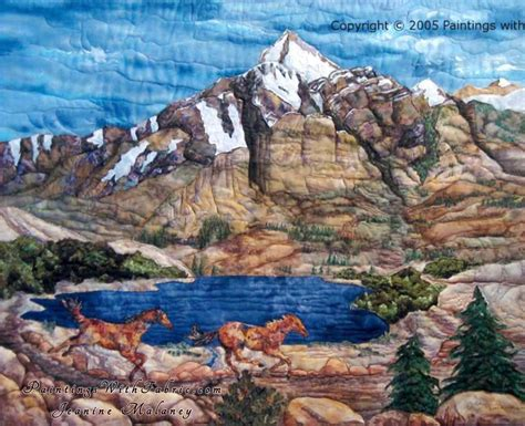 Mountain Landscape Quilt Fabric Spirit Of The West Ii A Fabric Ladndscape Quilt
