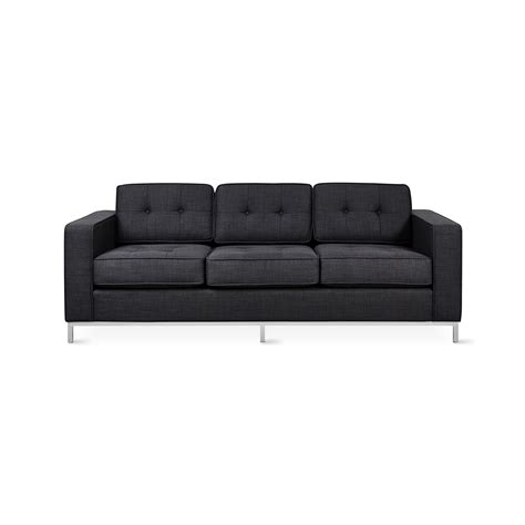 plinth couches jane sofa stainless steel base disc laurentian onyx