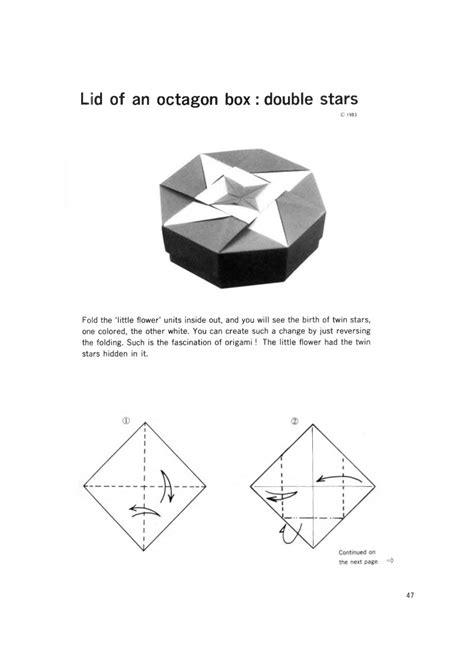 Origami Book Diagram - origami boxes tomoko fuse book