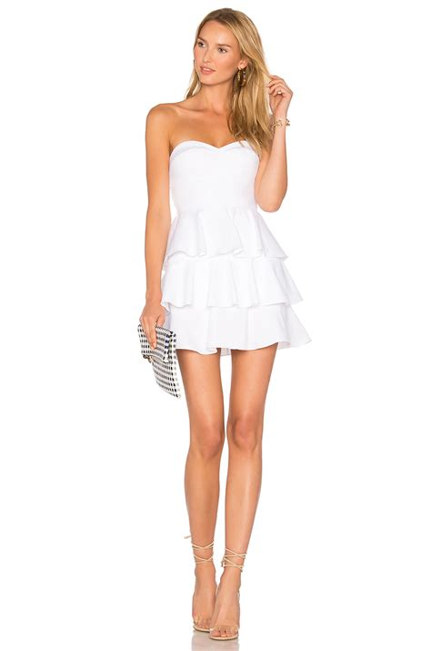 Amanda Ruffle Top amanda uprichard tiered ruffle dress white pique