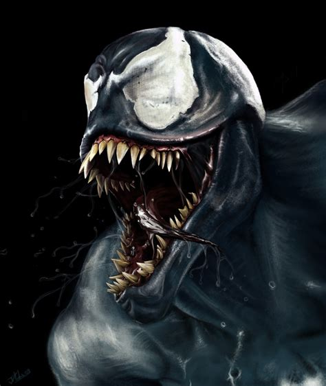 venom painting speed painting venom by dll by daviddleonluis on deviantart