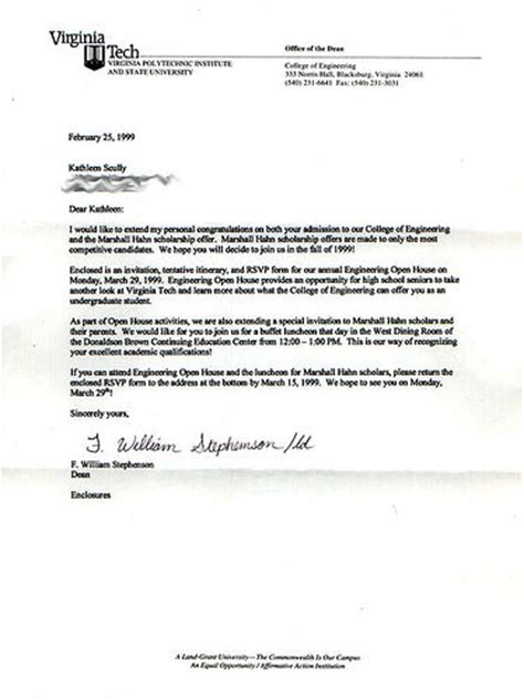 Recommendation Letter Virginia Tech 1999 02 25 Virginia Tech Acceptance Letter Flickr Photo