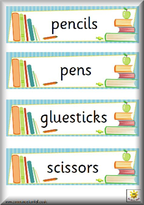 Book Labels For Classroom classroombasics