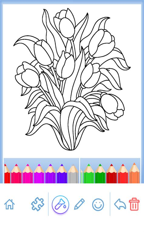 coloring pages for adults app coloring flowers android apps on play