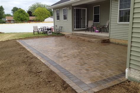 Creek Rock Patio by Benson Co Paving Brick For Patios And Driveways