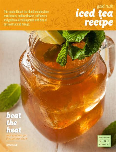 gold rush iced tea recipe from monterey bay spice company