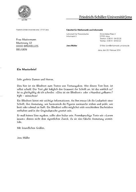 Offizieller Briefkopf Muster Briefvorlage F 252 R