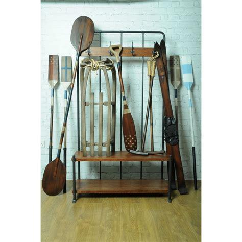 coat rack with bench seat industrial entry way coat rack bench foyer school vintage