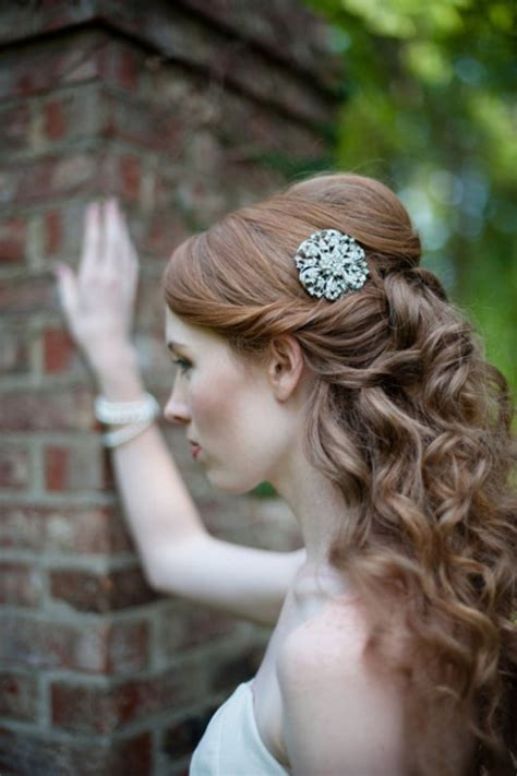 Wedding Hairstyles Curly Hair Half Up Half by Wedding Hairstyles Curly Half Up Behairstyles