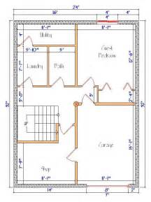 Cabin Plans The Logs End 32 X 30 House Plans