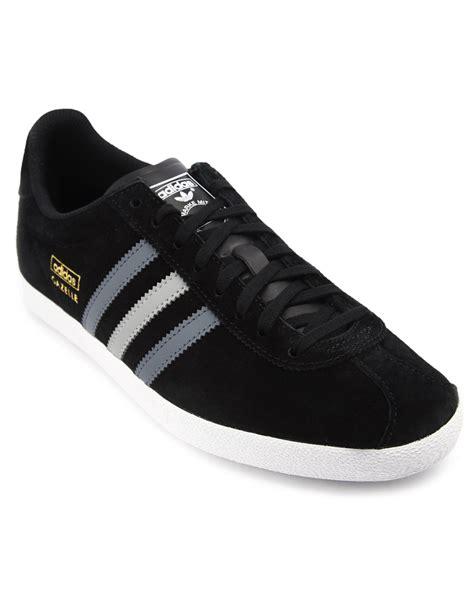 adidas gazelle black adidas gazelle og black grey stripes suede in black for