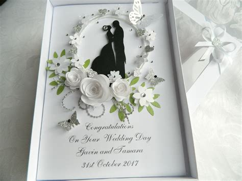 Handmade Engagement Gifts - handmade personalised card wedding day anniversary