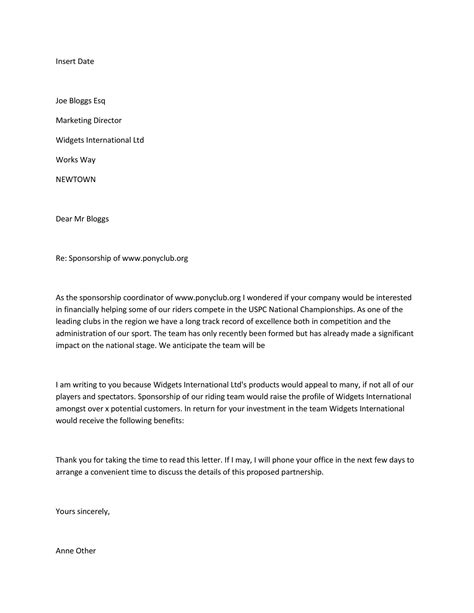 sponsorship letter sponsorship proposal templates