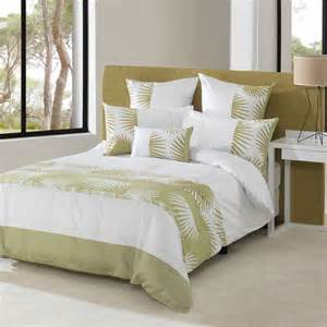 King Size Bed Linen Australia Sainsbury Green Ivory Leaf King Quilt Doona Cover