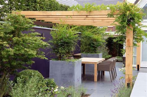 pergola terrassenüberdachung holz bauen dekor terrasse
