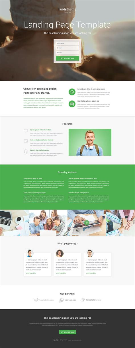 Web Development Responsive Landing Page Template 53378 Html Landing Page Templates Free