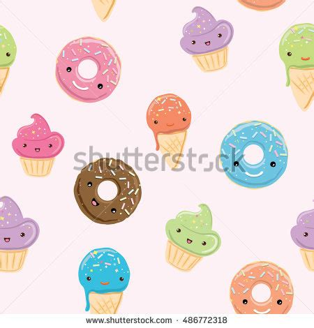 pastel donut pattern seamless pattern sweets ice cream donuts stock vector