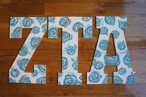 Zta Letters nyu zeta tau alpha painted letters lilly pulitzer