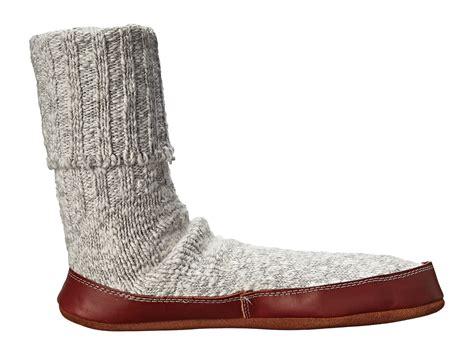 astronaut slipper socks acorn slipper sock grey ragg wool zappos free