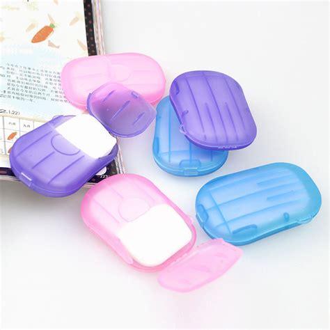 sabun kertas praktis paper soap travel multi color jakartanotebook