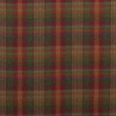 country upholstery fabric mulberry country plaid red lovat heather decor